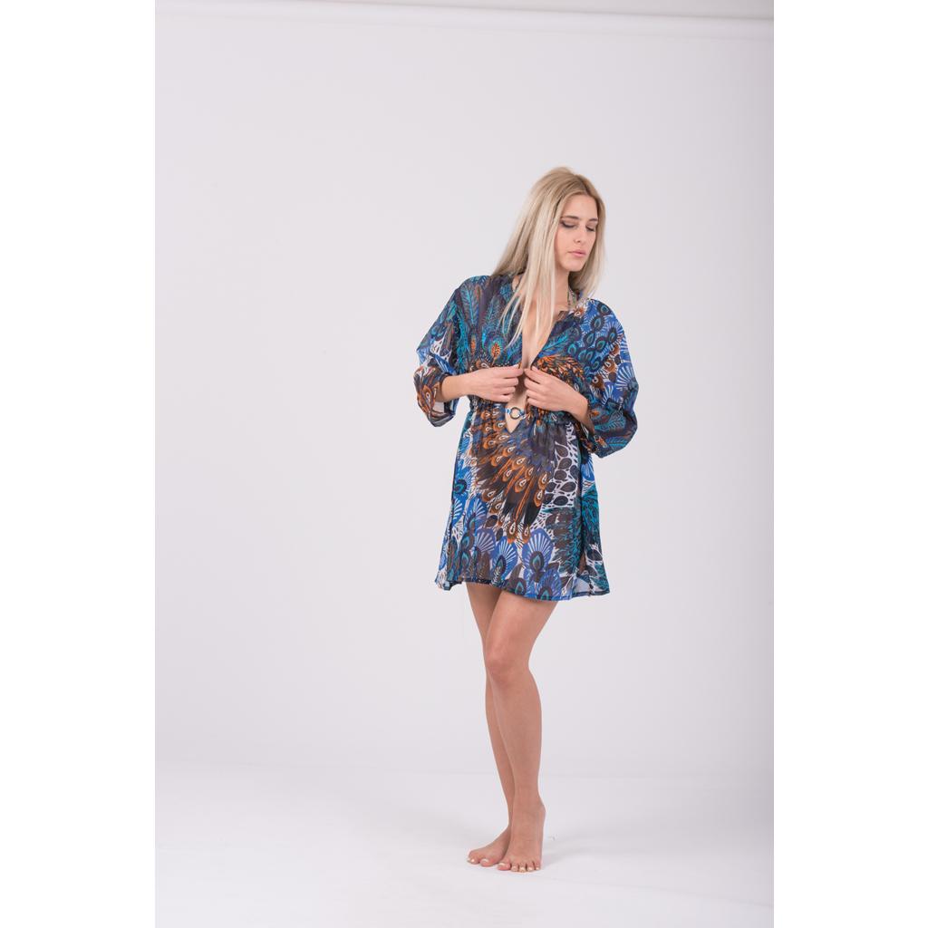 Μπλούζα-φόρεμα κοντό με άνοιγμα μπροστά - 4Queens.gr 6dcbd80b35e