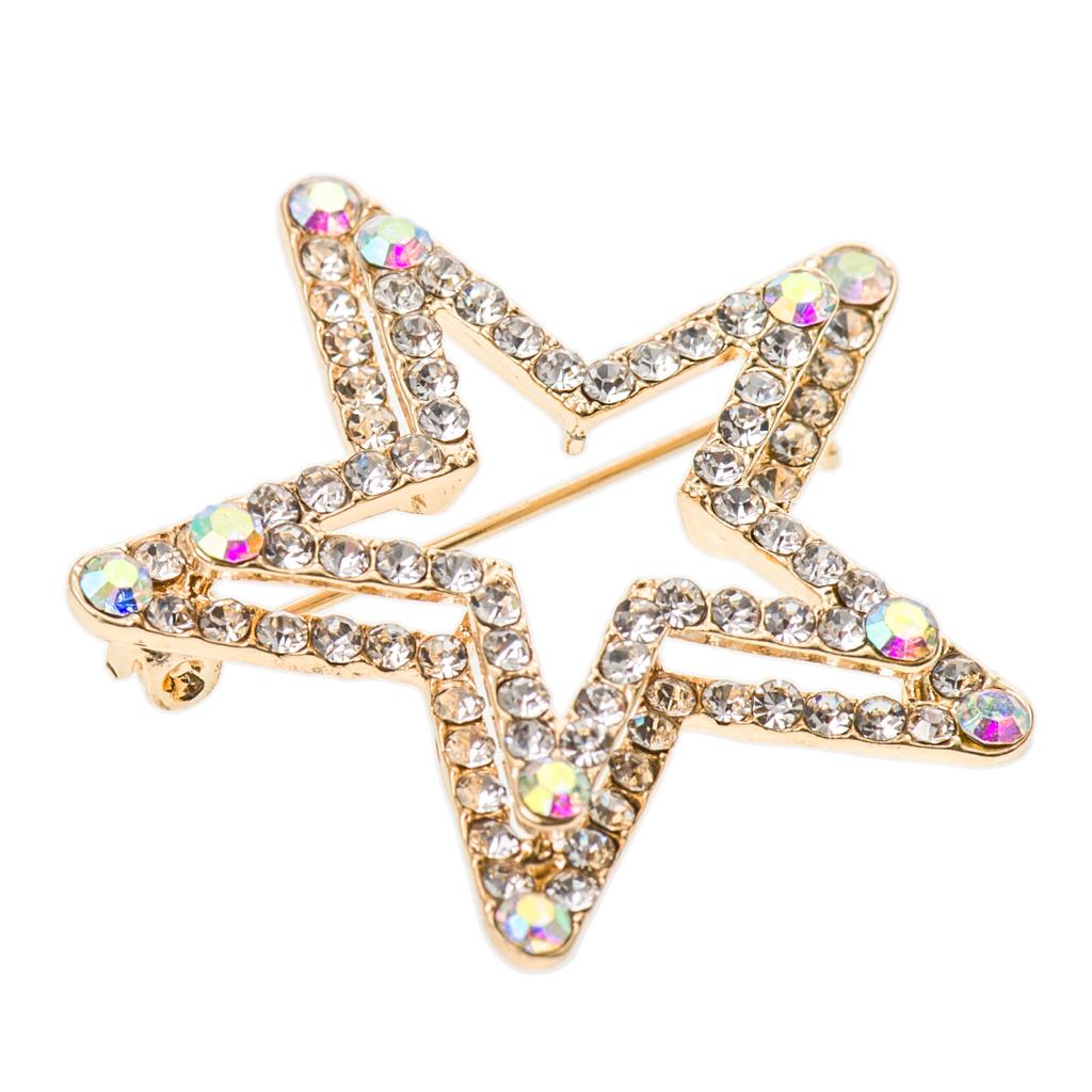 Καρφίτσα με μεταλλικό αστέρι με στρας σε χρώμα ασημί - 4Queens.gr 0a08f2ab205