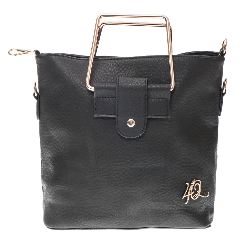 e5c9401b75 Τσάντα μικρή καθημερινή με μεταλλικά χερούλια - 4Queens.gr